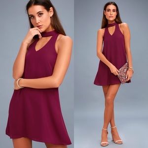 Lulus | Groove Thing Swing Dress Magenta NWT XS
